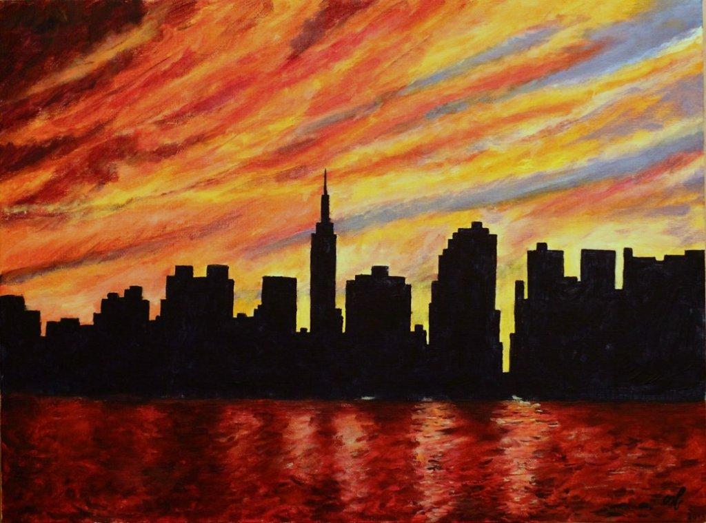 Закат над Нью-Йорком / Sunset over New York